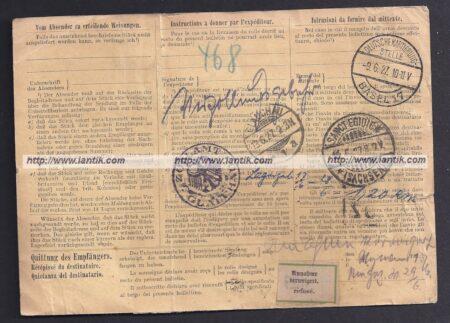 Bulletin d'expédition Suisse
