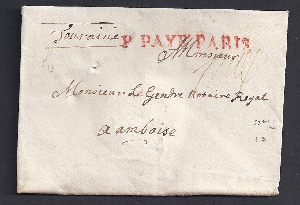 Marque postale port payé Paris