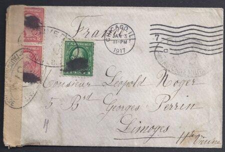Censure française sur lettre USA
