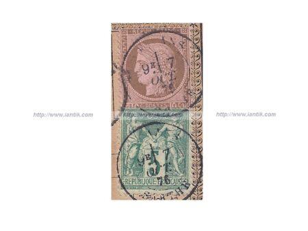 Carte présurseur Cérès Sage timbres