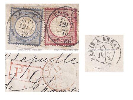 Lettre de METZ Alsace Lorraine extraits