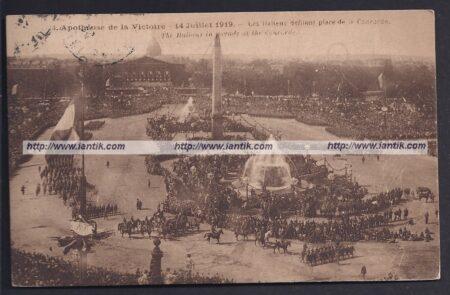 14 juillet 1919 défilé italiens à Paris recto