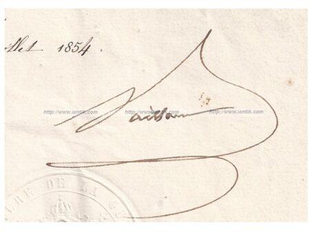 Autographe Maréchal Vaillant partie 2